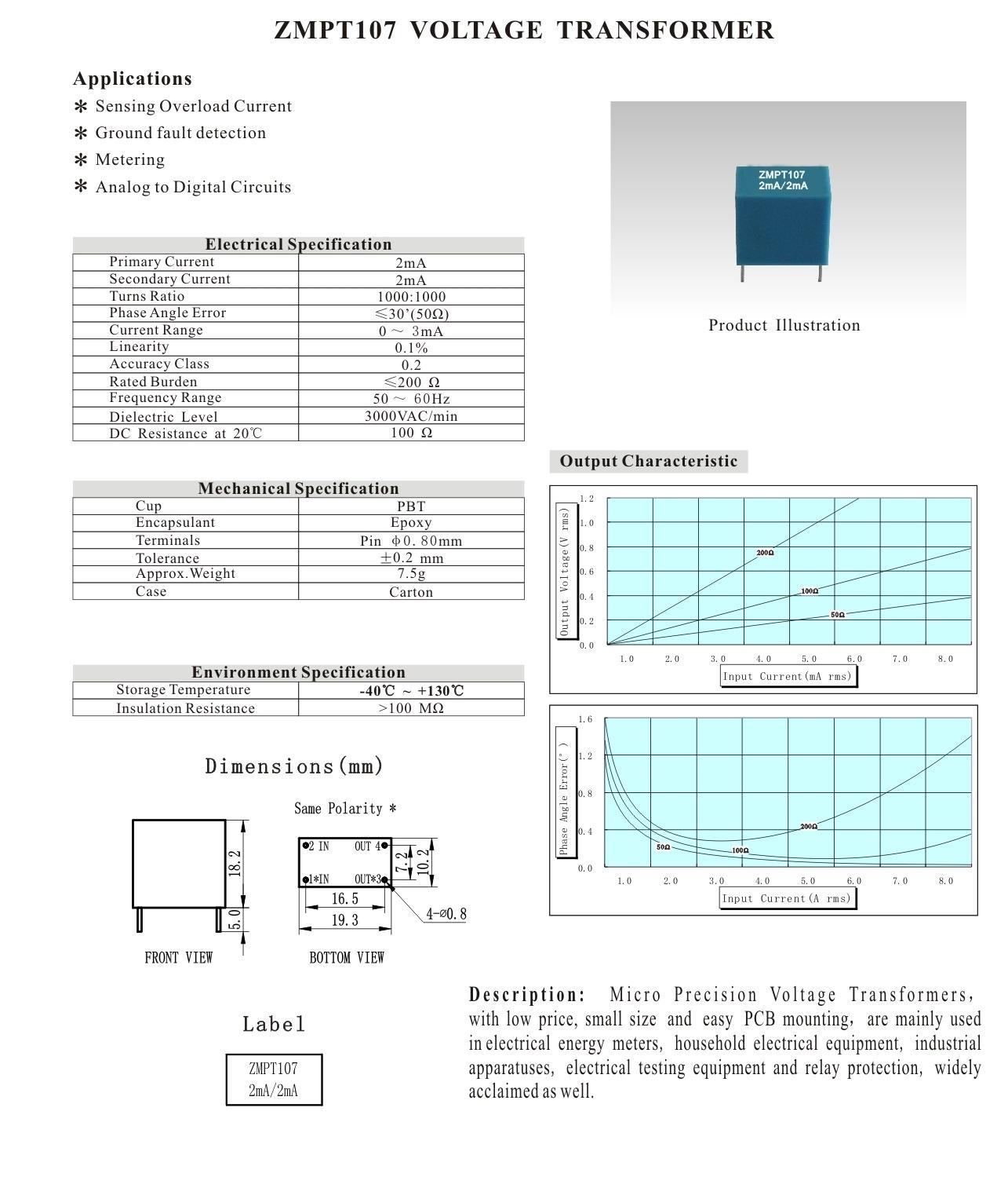ZMPT107 Datasheet