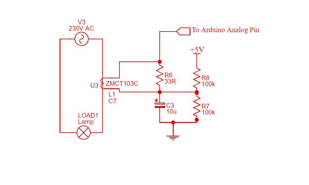 ZMCT103C Micro Current Transformer |  5A / 5m | Arduino Code 1