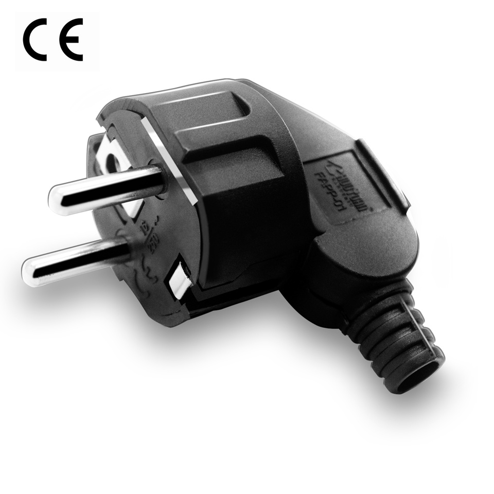 2 pin or 3 pin AC Electrical Power Rewireable Male Plug Sockets