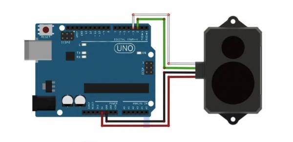 TF02 lidar arduino connection